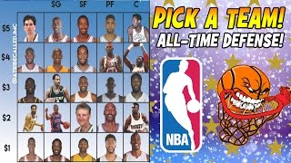 BUILD YOUR ALL-TIME NBA DEFENSIVE TEAM! $15 BUDGET CHALLENGE! NBA 2K17 MY LEAGUE