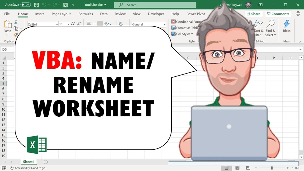 Excel VBA Name/ Rename Worksheet - YouTube