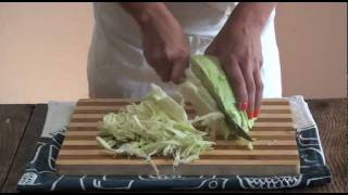 How to shred cabbage