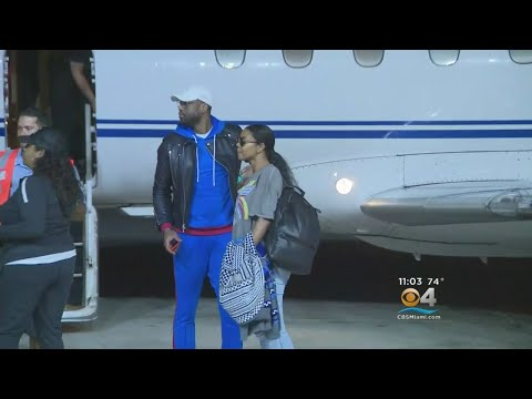 Dwyane Wade Arrives In South Florida Following Trade To Miami