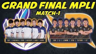 Match Tercepat Di grand final RRQ vs RSG Cuma 8 Menit COK!! - MPLI Match 1
