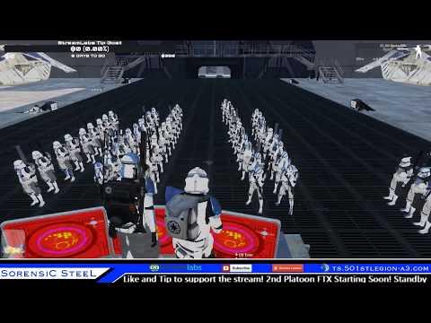 Sorensic Streams Arma 3 Star Wars 2nd Platoon FTX 65+ Clones