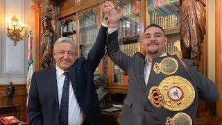 Andy Ruiz Jr., campeón mundial de boxeo, en Palacio Nacional