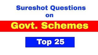 Govt. Schemes Most Important Questions for Bank PO | Clerk  [ In Hindi]