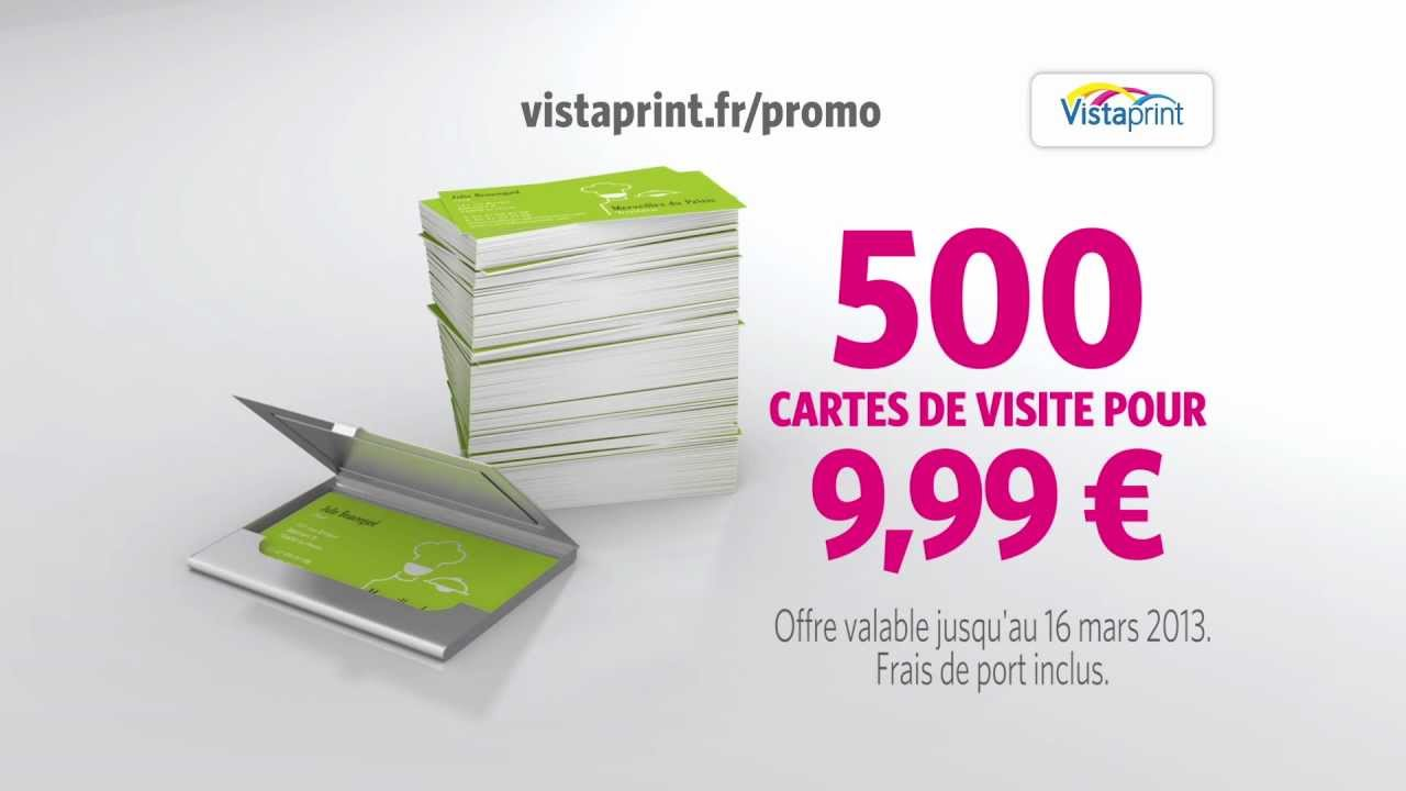 Pub TV CARTES DE VISITE Vistaprint