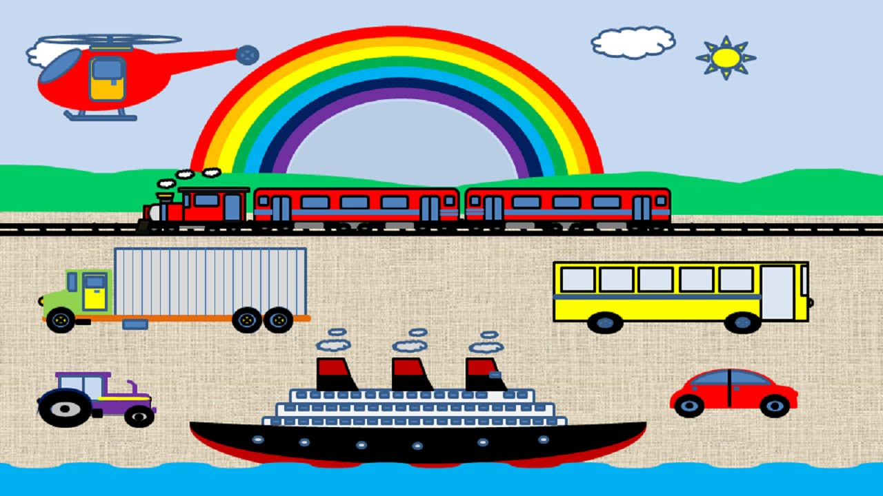 Transportation Names For Toddlers Kids And Children Best
