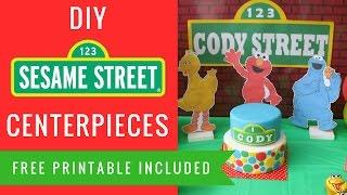 How to make Sesame Street Centerpieces Elmo Big Bird Cookie Monster