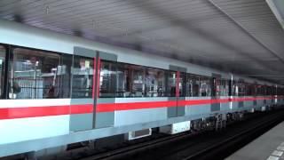 Metro Praha / Prague at station Vyšehrad Linka C HD