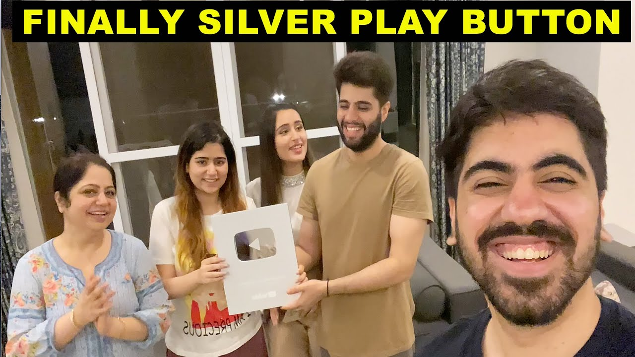 UNBOXING SILVER BUTTON WITH THAT GLAM COUPLE  NISHI ATHWANI