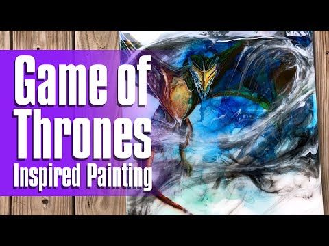 01 | How I did a Game of Thrones Inspired Painting with Alcohol Ink and Resin