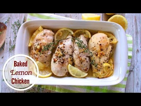 Zesty Baked Lemon Chicken