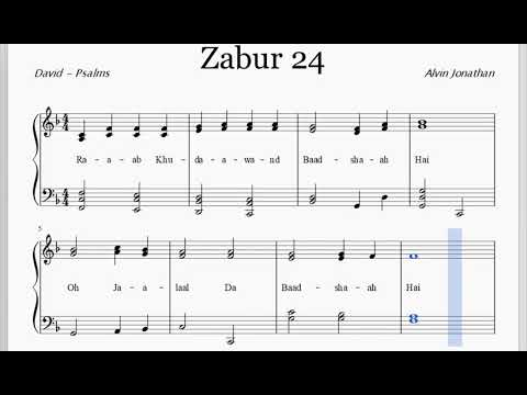 ZABUR 24 - RAB KHUDAWAND BADSHAH HAI - SHEET MUSIC KARAOKE BY WISHAL EDWIN & ALVIN JONATHAN