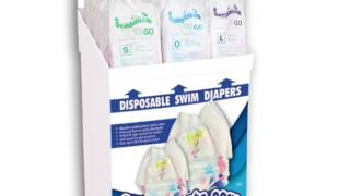 Swimpants.com™ POP Floor Display with Disposable Swim Diapers (Filled)