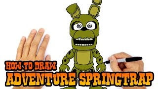 How to Draw Adventure Springtrap | FNAF World
