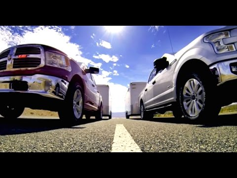 2015 Ford F-150 Drag Race vs Chevy and Ram - Drive Comparison