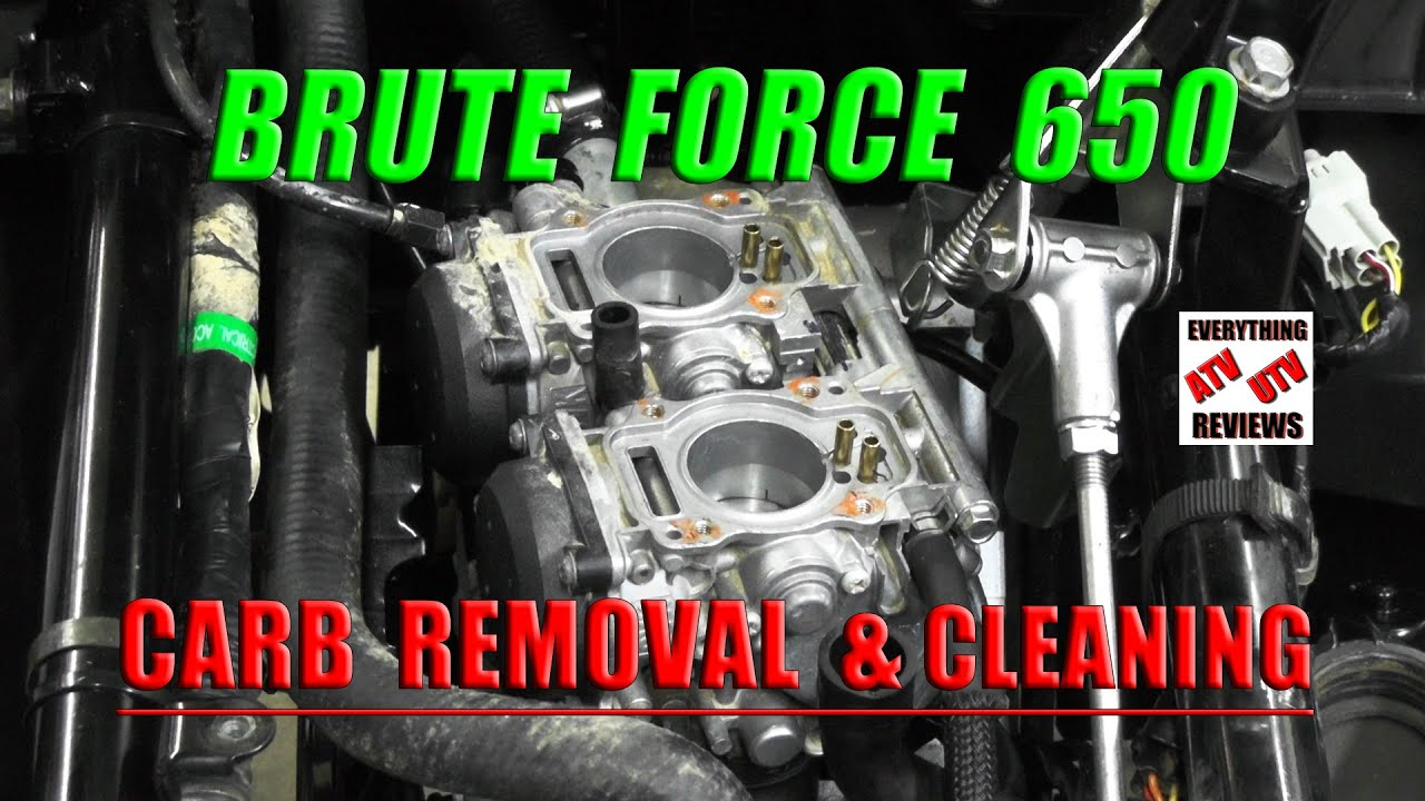 Brute    Force 650  How to Remove Carburetor and Cleaning
