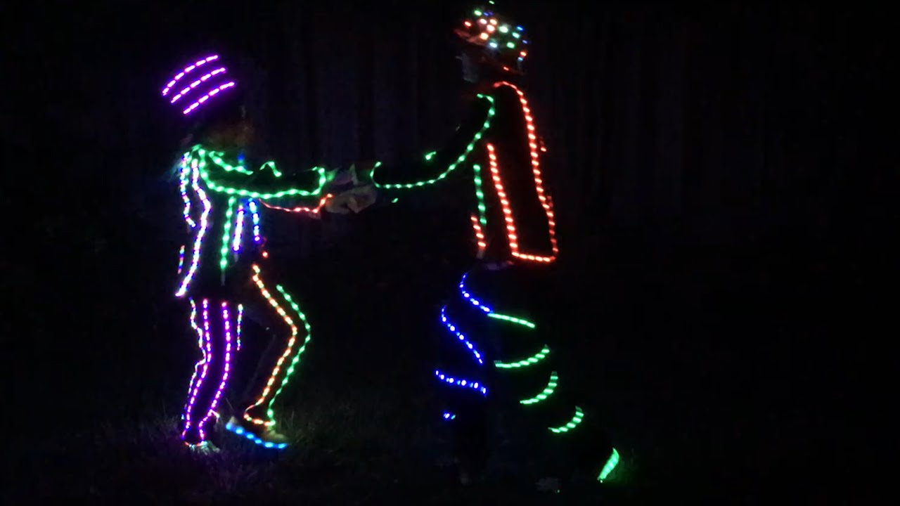 sc 1 st  YouTube & LED Light Up Costume DIY! (Burning Man + Halloween Costume) - YouTube