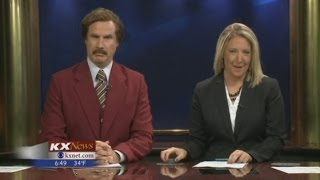 Will Ferrell hosts real newscast as Anchorman Ron Burgundy on KXMB TV