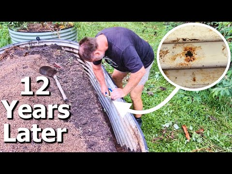 What Happened to My Steel Raised Garden beds After 12 years?
