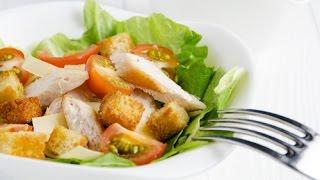 Салат Цезарь с курицей и сухариками / Caesar Salad Recipe