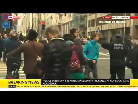 Rescuers At Metro Station After Bomb In Brussels