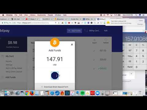 Bitpay Visa Card *How To Put Money On Your Bitcoin Credit Card