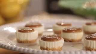 Salted Caramel Cheesecake Minis Recipe  PHILADELPHIA Cream Cheese
