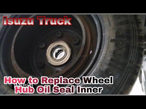How Replace Wheel Hub Oil Seal Rear Isuzu Truck