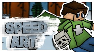 Snow ● 2D Comic/Cartoon Minecraft Banner Speed Art ● | by Mara