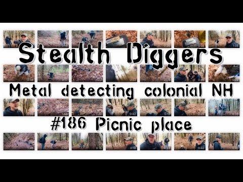 #186 Picnic Place - Colonial Farm Metal Detecting Coins Relics  Picnic Grove 1700s NH Metal Detector