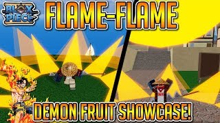 NEW FLAME FLAME DEMON FRUIT SHOWCASE (THIS FRUIT IS OP!!) | Blox Piece