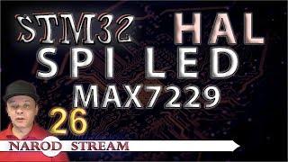 Программирование МК STM32. УРОК 26. HAL. SPI. Драйвер индикатора MAX7219