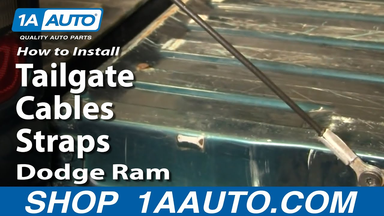 How To Replace Tailgate Cables 94 01 Dodge Ram 1500 Youtube