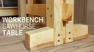 Making a Table on a Sawhorse to use as a Workbench