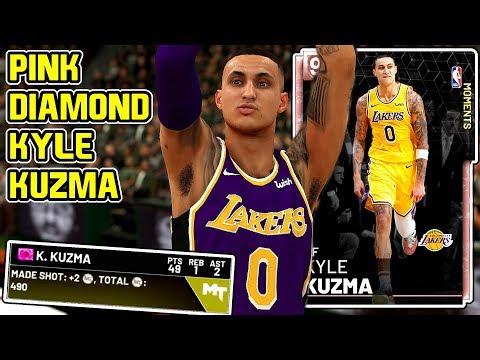PINK DIAMOND KYLE KUZMA 49PT GAMEPLAY! SUCH ELITE OFFENSE! NBA 2k19 MyTEAM