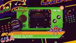 Myarcade Mini Galaga Pocket Player Youtube