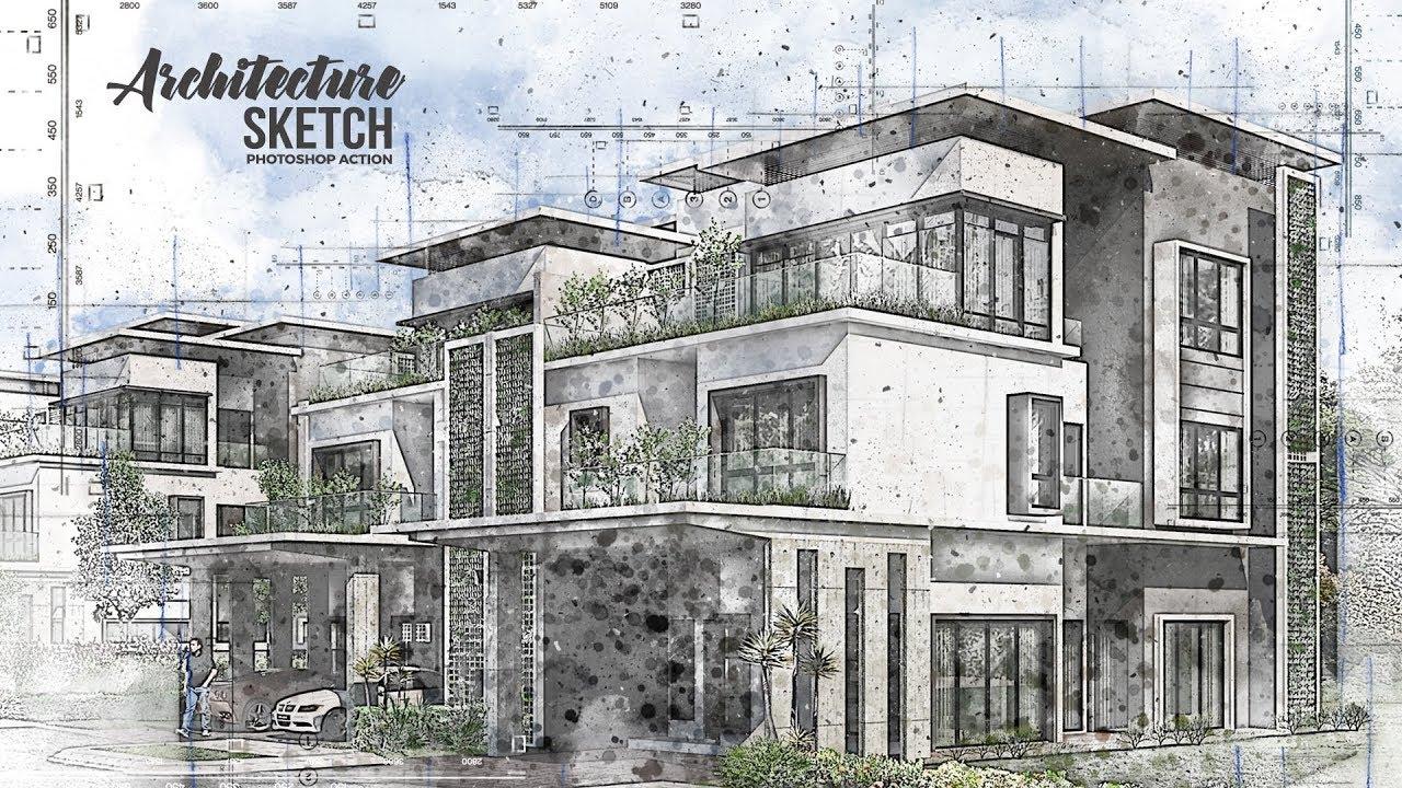 Architecture Sketch Photoshop Tutorial