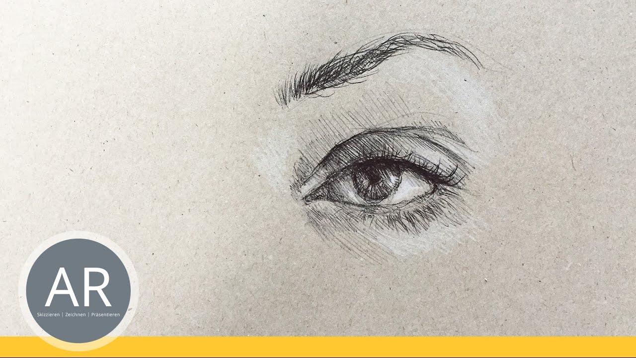 Ganz Einfach Augen Zeichnen Lernen Portrat Zeichnen Lernen Mit