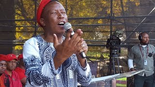 Julius Malema told the men gathered at Africa Day celebrations that they do not have to be #Trash.  He said that women are good - citing an example that they give you antiperspirant because they don't want to tell you that you smell.  He gave many examples of how African men can change their behaviour and stressed the importance of respecting women, not only theirs mothers but their wives behind bedroom doors too.  Production: Louise McAuliffe/EWN