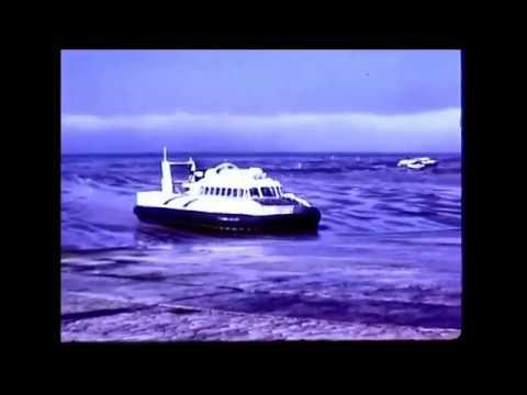 1969 - cine film - hovercraft - river medina -   cowes / ryde - isle of wight