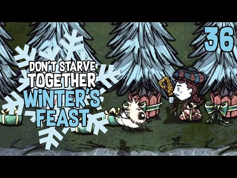 Christmas Trees, Klaus & Opening Presents - Don't Starve Together: WINTER'S FEAST Gameplay - Part 36