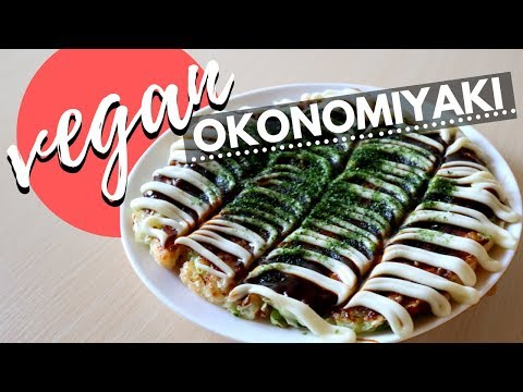 How to make VEGAN Okonomiyaki | SUPER EASY Japanese Food Recipe! | ヴィーガンお好み焼の作り方