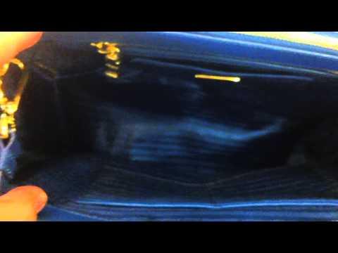 MPRs PRADA BN2274 SAFFIANO LUX SHOPPING COBALTO LEATHER TOTE BAG
