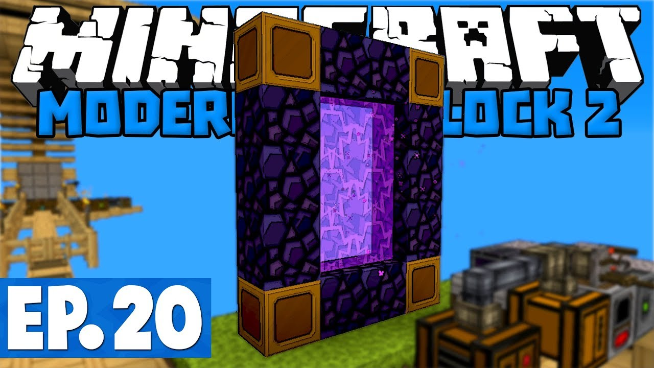Skyblock nether portal not working
