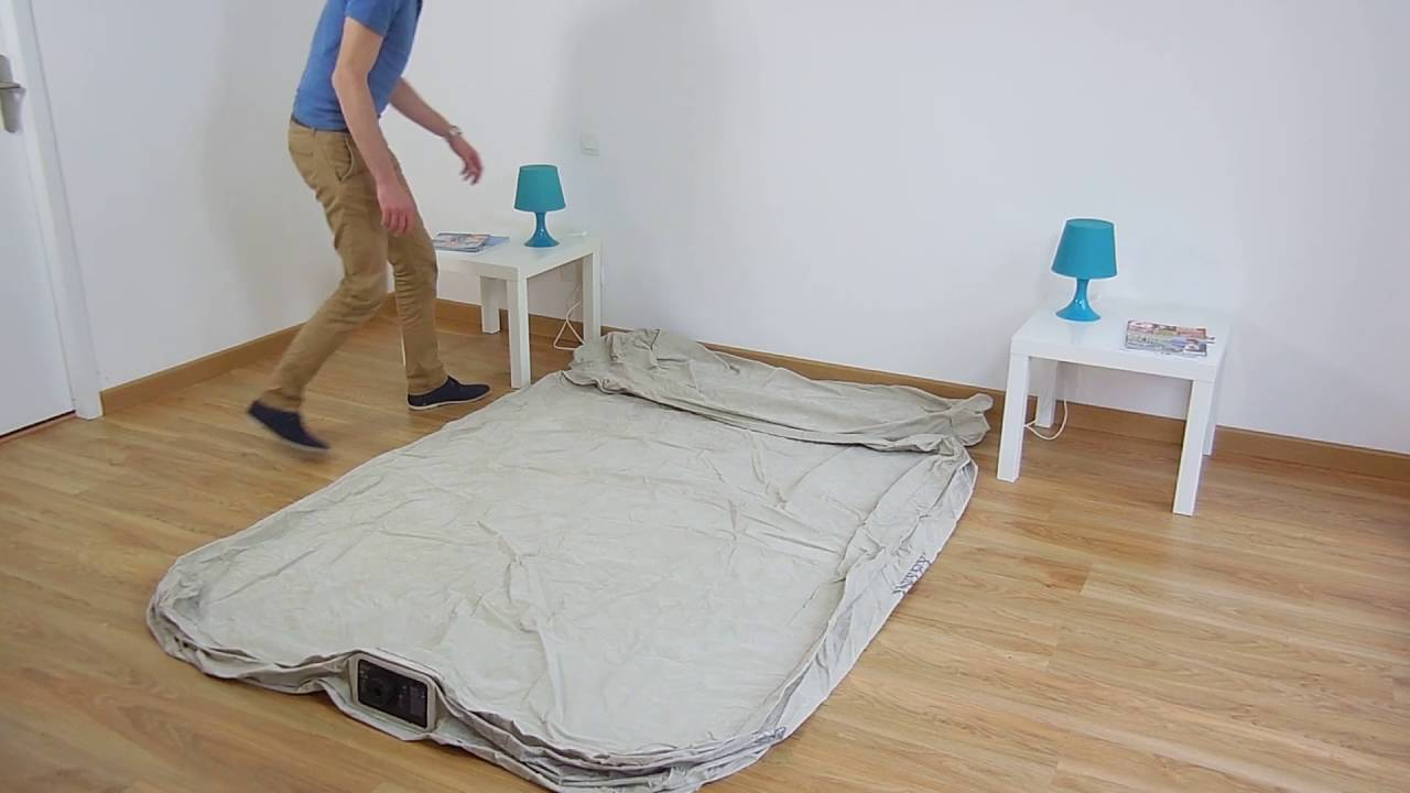 Lit Gonflable Intex Headboard Bed Fiber Tech 64460 Youtube