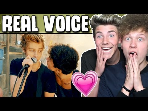 5 Seconds Of Summers REAL VOICES WITHOUT AUTOTUNE REACTION