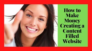 ... how to make money creating a content filled website the best way generate $1000 per day in passive...