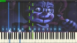 FNaF Sister Location - Full OST [Synthesia Piano Tutorial + SHEETS and MIDI]