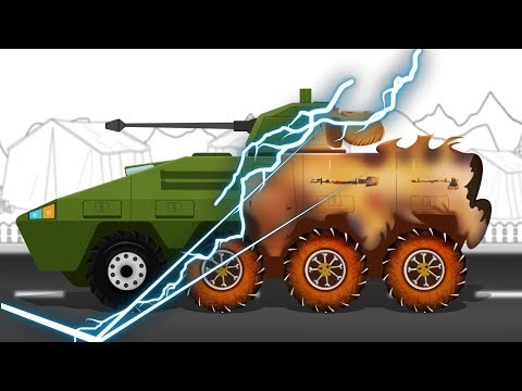 Good and Evil | Army Tank | Vehicles Battle | Scary Halloween Video