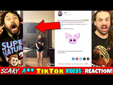 SCARY TIKTOK VIDEOS THAT CAN'T BE EXPLAINED – REACTION! (Ghosts | Slapped Ham)